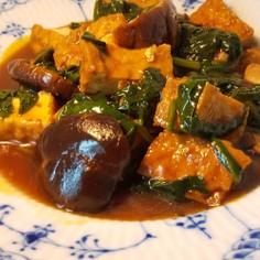 中華風・厚揚げと干ししいたけの炒め煮