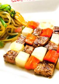 手軽なお肉でも♡豪華ステーキ温野菜サラダ