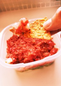 トマトとアボガドのディップ