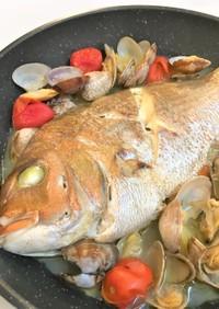 真鯛のアクアパッツア【クエだしの素】