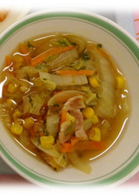野菜スープ@倉敷市学校給食