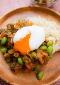 牛タンと夏野菜のキーマカレー