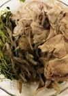 レンジで簡単!豚肉と舞茸と豆苗の温サラダ
