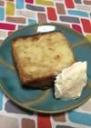 超簡単☆バニラアイス添えキャラメルケーキ
