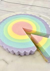 レインボーレアチーズケーキ♪