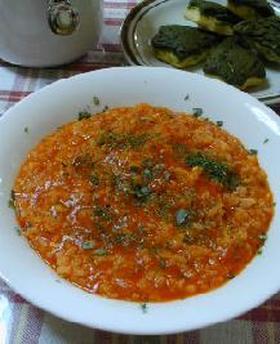 イタリアントマトの玄米リゾット__Italian Tomato Risotto/Brown Rice with Seafood