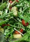 アボカドと水菜のトマトの味噌サラダ