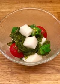 山芋とオクラとトマトのめかぶ和え