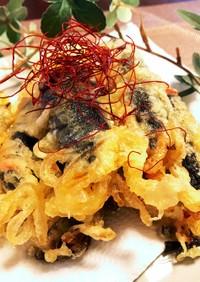 キムマリ。チャプチェの天ぷら