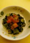 保育園給食★トマトとオクラのサラダ