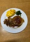 新玉ねぎのステーキ☆カリカリバラ肉添え