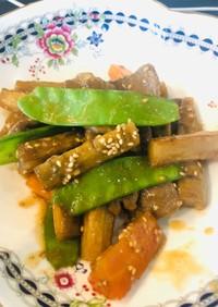 ゴボウと豚肉の甘辛煮