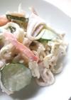 海老イカ大根サラダのマヨネーズ和え