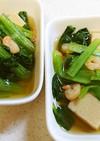 高野豆腐と小松菜のめんつゆ煮(簡単です)