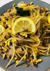 豆もやしと豚肉のさっぱりレモン炒め