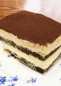 牛乳パックで!簡単大人ティラミスケーキ♪