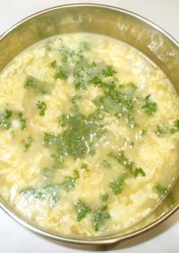 中華コーン春雨スープ♪簡単卵コンソメ