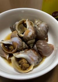つぶ貝の煮付け(覚書)