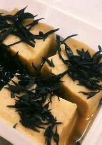 高野豆腐とひじきの含め煮