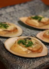 白貝のマヨネーズ焼き