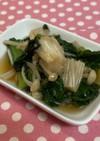 あともう一品って時に小松菜とえのき炒め煮