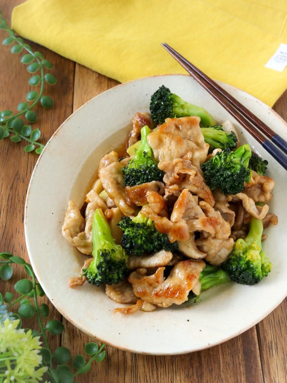 豚肉とブロッコリーの中華風炒め