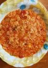 生米から作るトマトシーフードリゾット