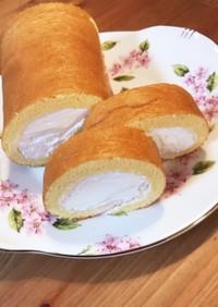 簡単☆ホイップクリームのロールケーキ