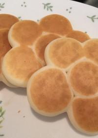ちぎりパン風☆お花の米粉パンケーキ
