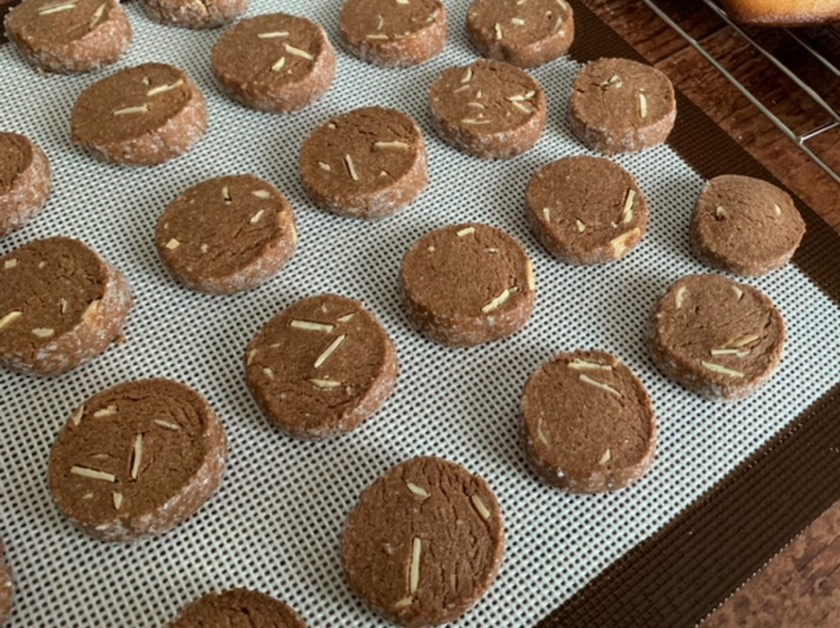 ココアとアーモンドのディアマンクッキー