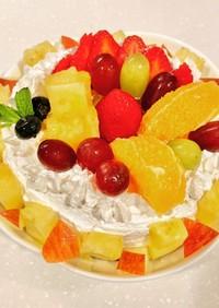 簡単フルーツケーキ(飾るだけ(^^;;)