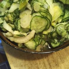 ジップで簡単、ゆる野菜漬け