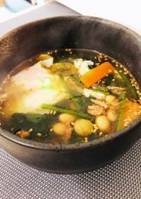 妊娠中の減塩、体重管理に!野菜春雨スープ