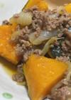 南瓜とひき肉の煮物