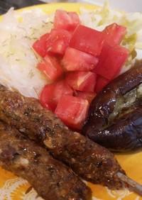 パキスタン風ラム肉のシシケバブ