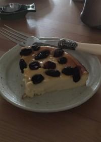 ラムレーズン乗せチーズケーキ
