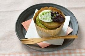 【米粉】カップで抹茶シフォンケーキ