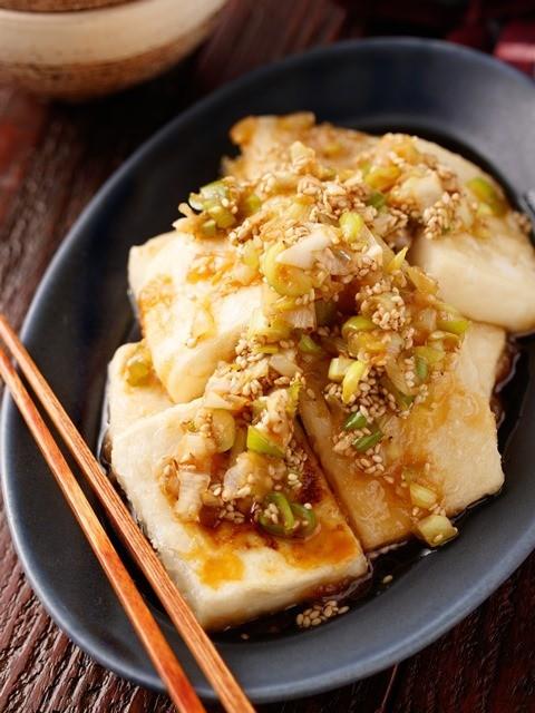 カリカリ豆腐のねぎソース