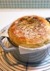 staub鍋で簡単高加水パン