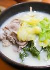 麹甘酒を使った生姜豆乳鍋
