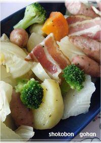 野菜のオリーブオイル蒸し