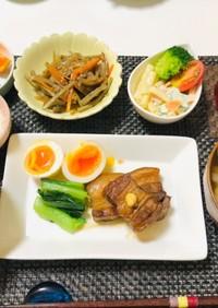 角煮で夕飯の献立・晩ご飯おかず・和食
