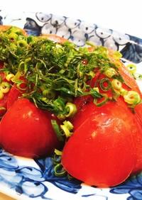 薬味を効かせて!和風トマトスライス