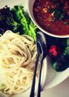鯖缶+トマトジュース*つけ麺ワンプレート