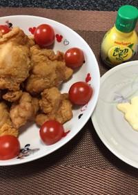 鶏モモ唐揚げガーリック風!(^^)!