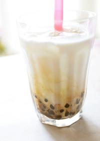 【電鍋レシピ】黒糖タピオカミルク