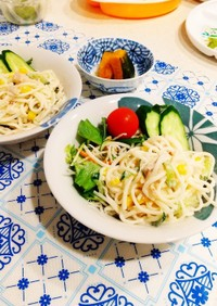 冷や麦や素麺アレンジ☆冷やし麺サラダ