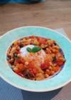 生トマトでひよこ豆のラタトゥイユ風