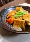 厚揚げと大豆のカレー煮