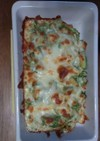納豆とキャベツのチーズ焼き